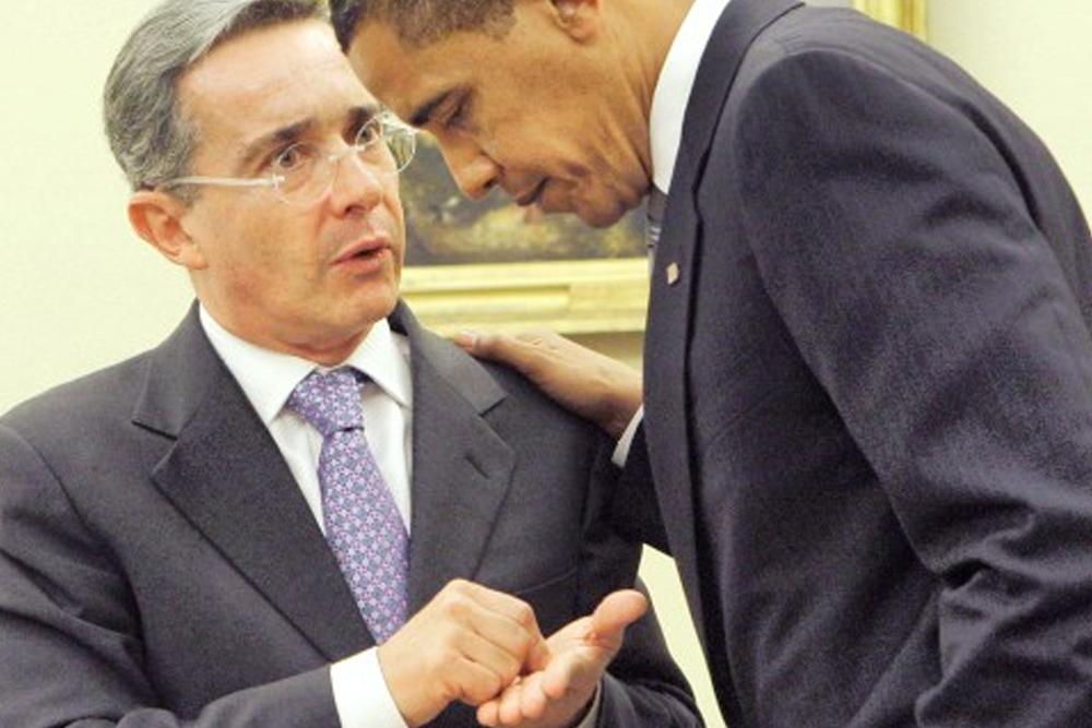 Obama y Alvaro uribe