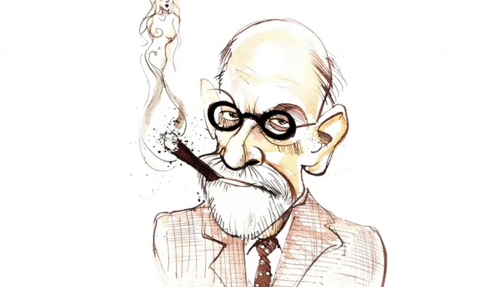dibujo de Sigmund Freud
