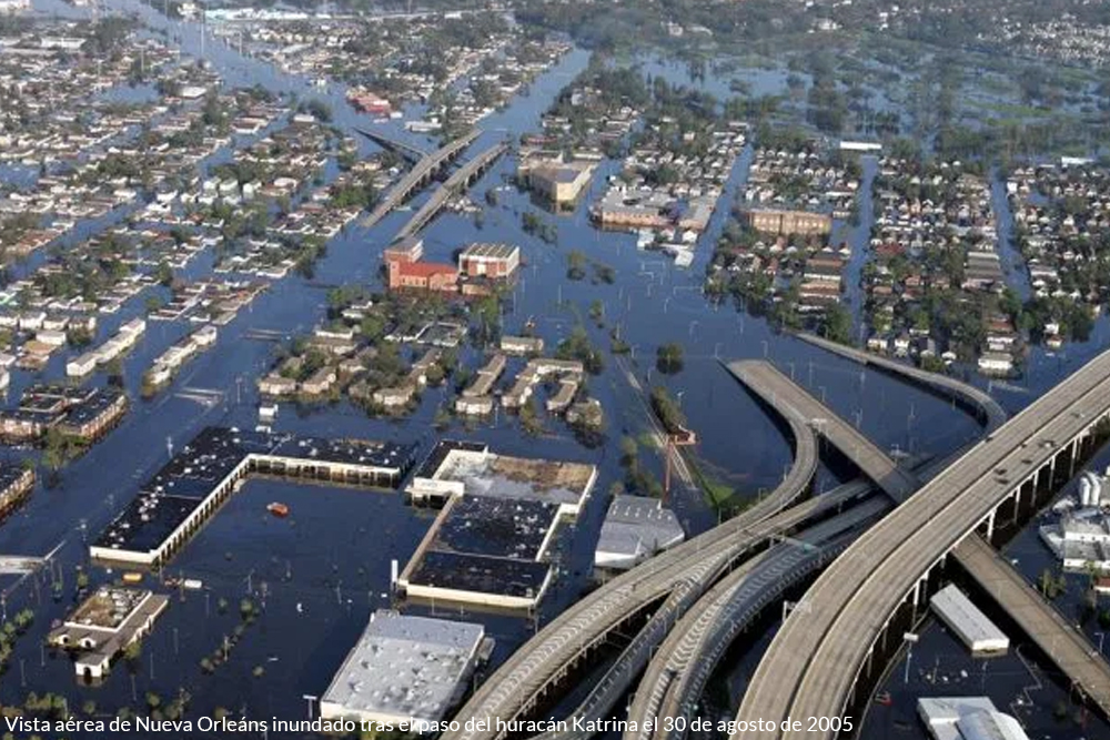 hurricane Katrina flooded the city of New Orleans in 2005